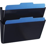 """OIC Space Saving Filing System - 7"""" Height x 13"""" Width x 4.1"""" Depth - Wall Mountable, Partition-moun OIC21405"""