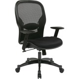 Office Star Space 2300 Matrex Managerial Mid-Back Mesh Chair - Mesh Black Seat - Mesh Back - 5-star  OSP2300
