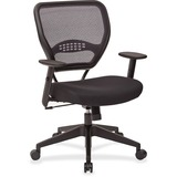 Office Star Space 5000 Managerial Low-Back Chair - Mesh Black Seat - Mesh Back - Black Frame - 5-sta OSP5500