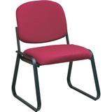 Office Star V4420 Deluxe Sled Base Armless Chair - Cabernet Seat - Black Frame - Sled Base - Burgund OSPV442074