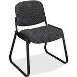 "Office Star V4420 Deluxe Sled Base Armless Chair - Onyx Seat - Black Frame - Sled Base - Onyx - 19""  OSPV442075"