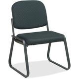 """Office Star V4420 Deluxe Sled Base Armless Chair - Black Seat - Black Frame - Sled Base - 19"""" Seat W OSPV442080"""
