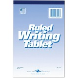 "Roaring Spring Ruled Writing Tablet - 100 Sheets - Printed - 6"" x 9"" - White Paper - 1Each ROA63046"