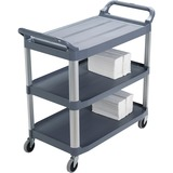 RCP409100 - Rubbermaid Commercial 3-Shelf Mobile Utility Ca...