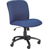 Safco Big & Tall Executive Mid-Back Chair - Foam Blue, Polyester Seat - Black Frame - 5-star Base -  SAF3491BU