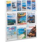 SAF5606CL - Safco Magazine/Pamphlet Plastic Display Rack