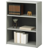 "Safco ValueMate Bookcase - 31.8"" x 13.5"" x 41"" - 3 x Shelf(ves) - Gray - Steel, Fiberboard, Plastic  SAF7171GR"