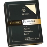 Southworth® 25% Cotton Business Paper, 24lb, 95 Bright, Ivory, 8 1/2 x 11, 500 Sheets SOU404IC