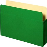 """Sparco Accordion File Pocket - 9 1/2"""" x 11 3/4"""" Sheet Size - 3 1/2"""" Expansion - Green - Recycled - 1 SPR26551"""