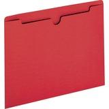 "Sparco Colored File Jacket - Letter - 8 1/2"" x 11"" Sheet Size - 50 Sheet Capacity - 11 pt. Folder Th SPR26560"