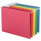 "Sparco Colored Hanging Folder - Letter - 8 1/2"" x 11"" Sheet Size - 1/5 Tab Cut - Assorted - Recycled SPRSP5215AST"