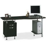 "Mayline Compact Box/File Desk Computer Workstation - Rectangle Top - 2 Drawers - 29"" Height x 63"" Wi MLN905ANT"