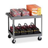 "Tennsco Two Shelf Service Cart - 2 Shelf - 500 lb Capacity - 4 Casters - Metal - 32"" Width x 24"" Dep TNNSC2436MGY"