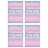 TOP4009 - TOPS 4CPP Important Phone Message Book