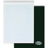 """TOPS Docket Top Wire Quadrille Pad - 70 Sheets - Printed - Wire Bound - 8.50"""" x 11.75"""" - White Paper TOP63801"""