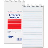 "TOPS Gregg Rule Reporter's Notebook - 70 Sheets - Printed - 4"" x 8"" - White Paper - 4 / Pack TOP80304"