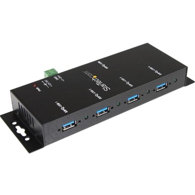 StarTech.com 4 Port Industrial USB 3.0 Hub - Mountable - Rugged USB Hub - 4 x USB 3.0 USB External - External
