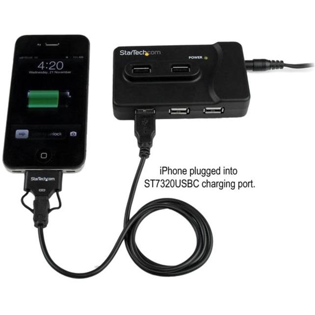 StarTech.com 6 Port USB 3.0 / USB 2.0 Combo Hub