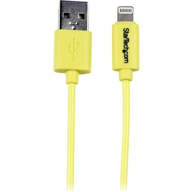 StarTech.com 1m 3ft Yellow Apple 8-pin Lightning Connector to USB Cable for iPhone / iPod / iPad