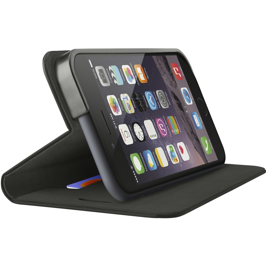 Belkin Classic Folio Carrying Case Folio for iPhone - Blacktop - Scratch Resistant Interior