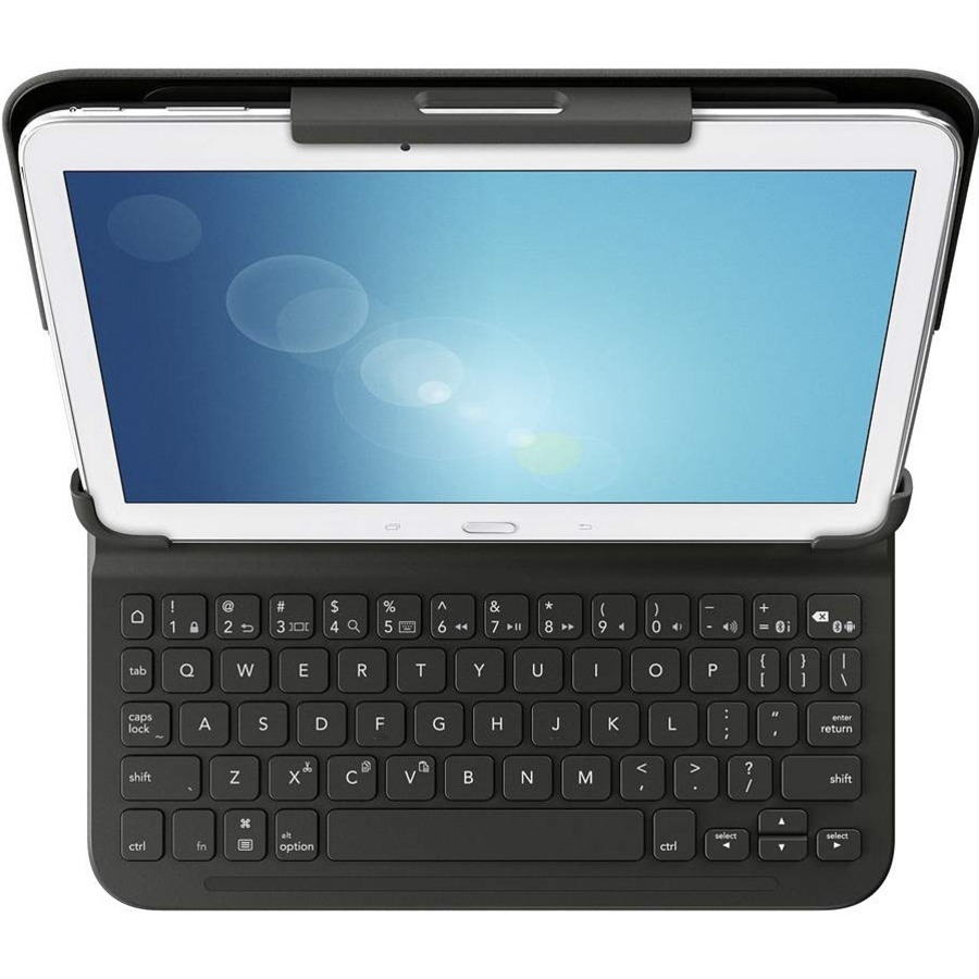 Belkin QODE Keyboard/Cover Case for 26.7 cm 10.5inch Tablet, iPad Air, iPad Air 2 - Black - Water Resistant