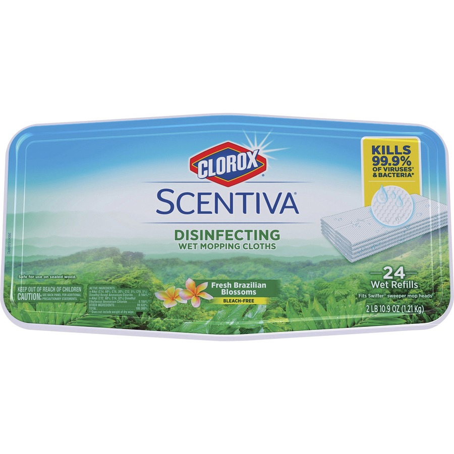 Clorox Scentiva Disinfecting Wet Mopping Cloths 24 Per Pack