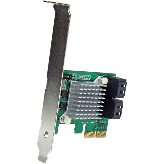 StarTech.com 4 Port PCI Express 2.0 SATA III 6Gbps RAID Controller Card with HyperDuo SSD Tiering - RAID Supported - JBOD, 1, 0, 1plus0 RAID Level - 4 Total SATA Ports