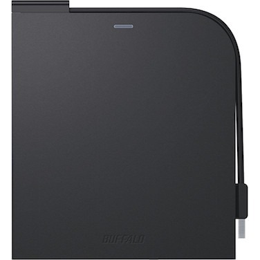 Buffalo MediaStation Portable Blu-ray Writer - Black - BD-R/RE Support - 24x CD Read/24x CD Write/16x CD Rewrite - 6x BD Read/6x BD Write/2x BD Rewrite - 8x DVD Read