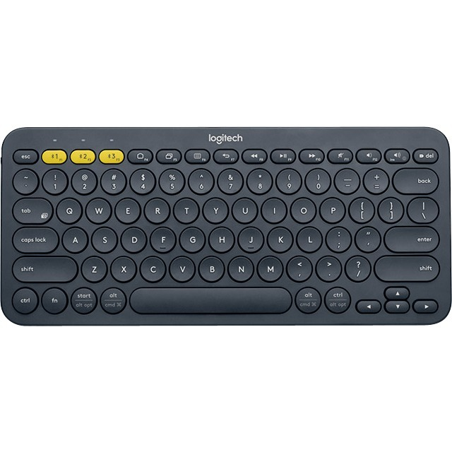 Logitech K380 Keyboard - Wireless Connectivity - Bluetooth - Black