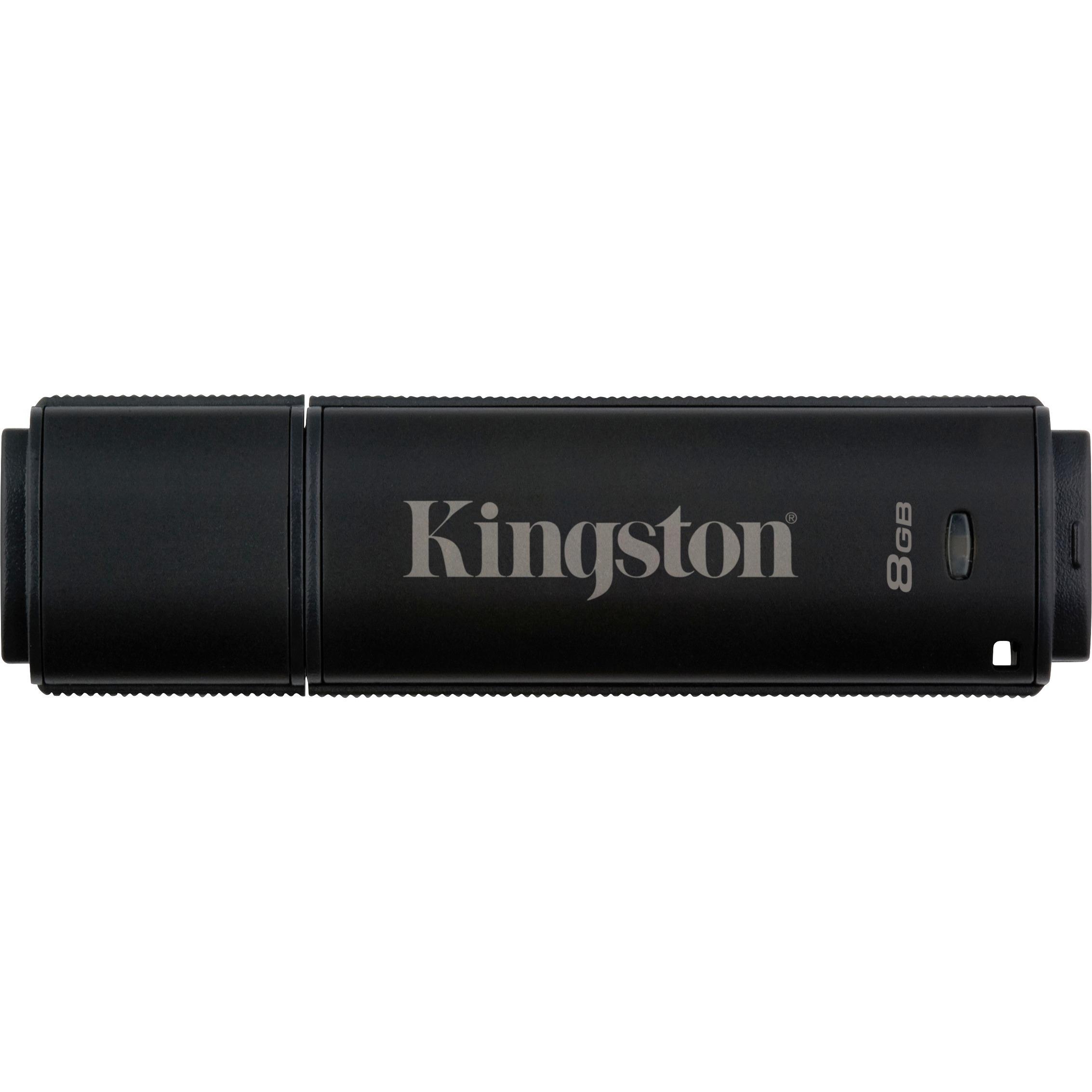 Kingston DataTraveler 4000 G2 8 GB USB 3.0 Flash Drive - 256-bit AES