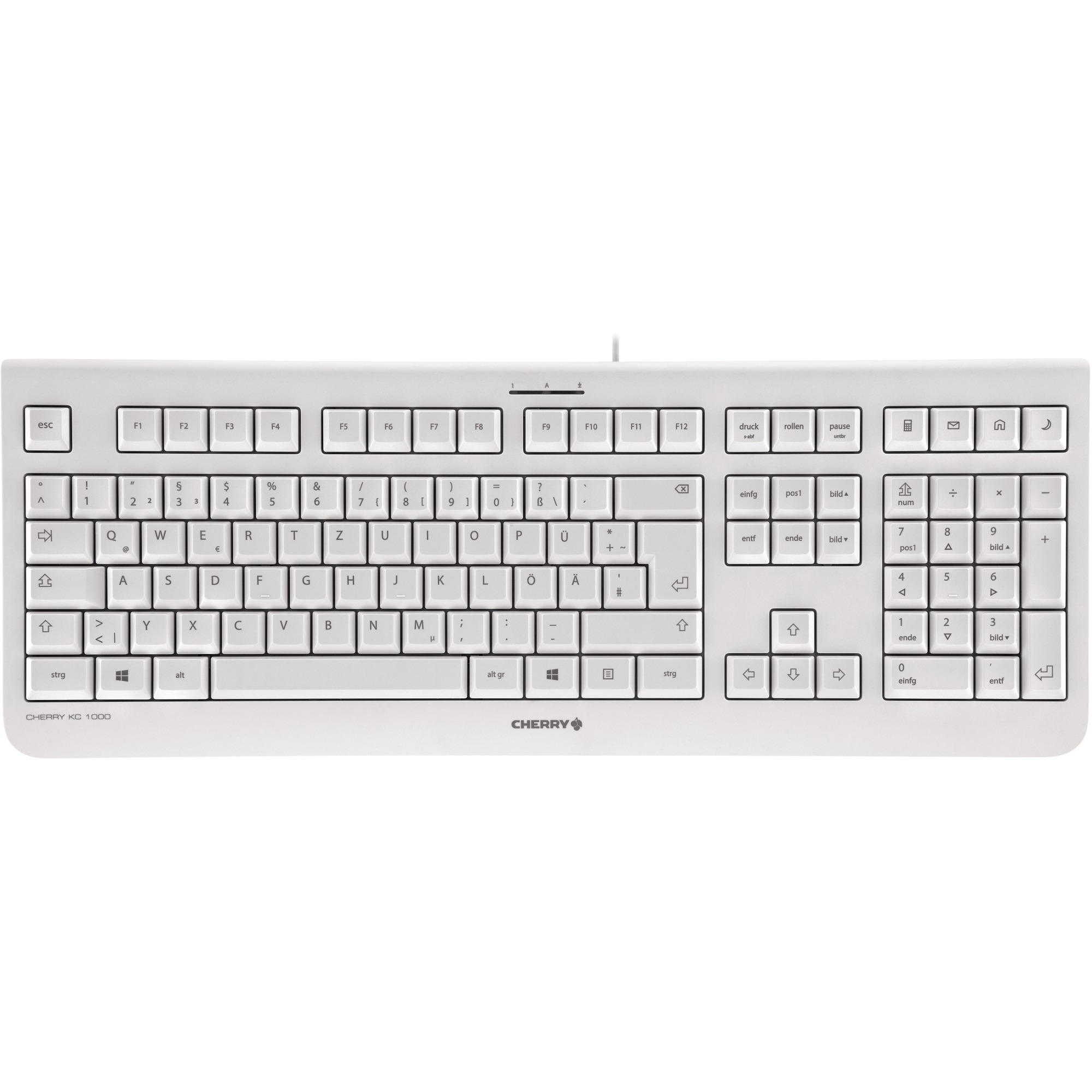 ... CHERRY KC 1000 Keyboard - Cable Connectivity - Pale Gray ... 1909a74fd9218
