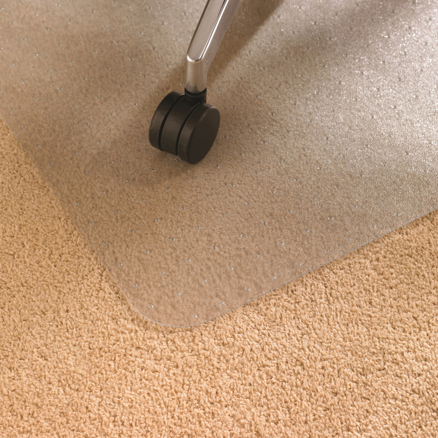 Floortex deep pile rectnglr polycarbonate chairmat flr1115227er - Deep pile carpet protector ...
