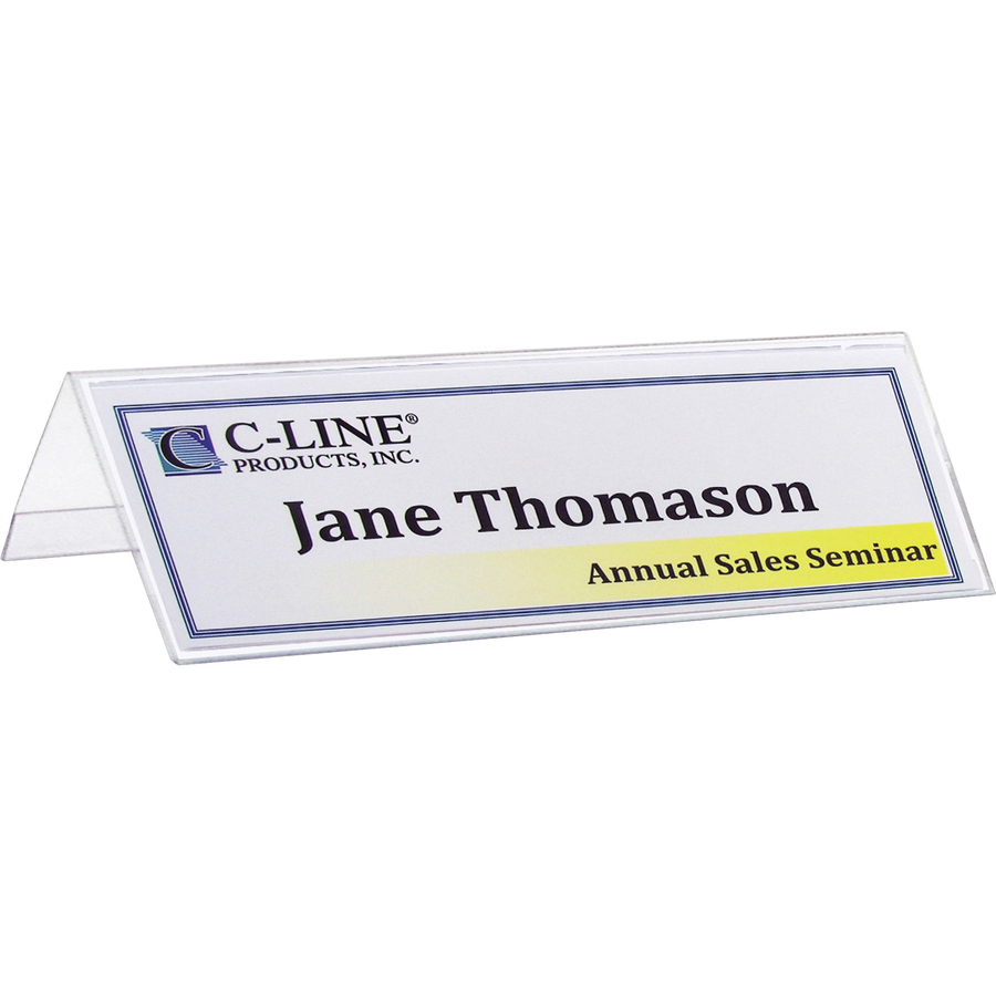 C Line Tent Card Cli87587 Supplygeeks Com