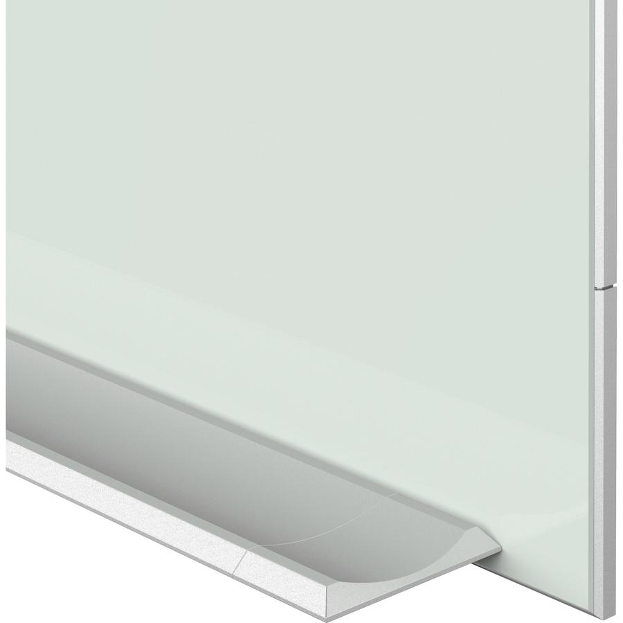 quartet element magnetic glass dry-erase board - 85 u0026quot   7 1 ft  width x 48 u0026quot   4 ft  height