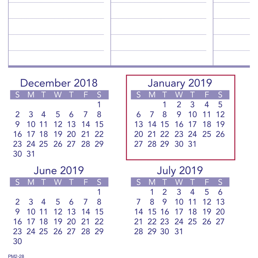 At A Glance Plan A Month Wall Calendar Julian Monthly January