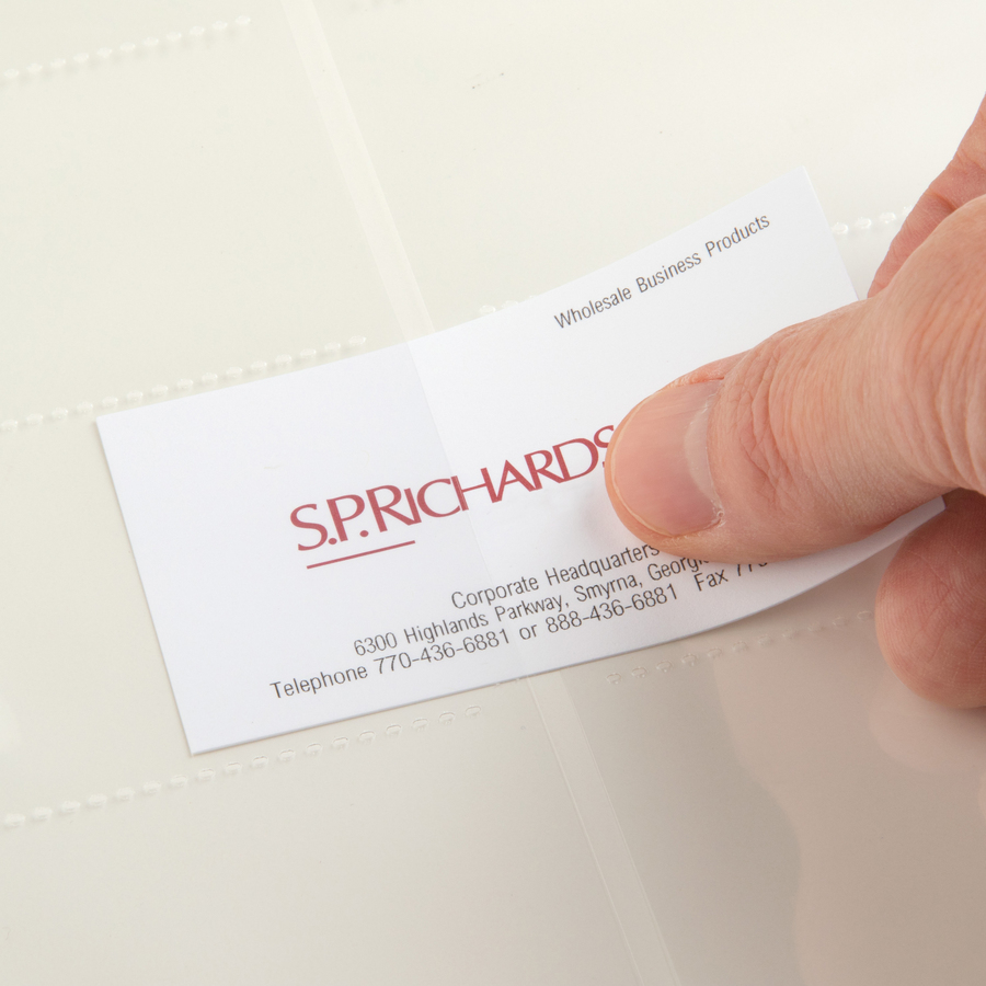 business card sleeves spr00700 right hero shot zoom closeup - Business Card Sleeves