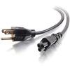 C2G 6ft 18 Awg 3-Slot Laptop Power Cord (nema 5-15P To IEC320C5) 27400 00757120274001