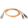 Tripp Lite 1M Duplex Multimode 50/125 Fiber Optic Patch Cable Lc/st 3