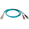 Tripp Lite 1M 10Gb Duplex Multimode 50/125 OM3 Lszh Fiber Optic Patch Cable Lc/st Aqua 3