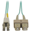 Tripp Lite 1M 10Gb Duplex Multimode 50/125 OM3 Lszh Fiber Optic Patch Cable Lc/sc Aqua 3