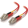 C2G 2m Lc-lc 50/125 OM2 Duplex Multimode Pvc Fiber Optic Cable - Red 37376 00757120373766