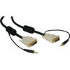 Tripp Lite 10ft Dvi Dual Link Digital Tmds Monitor Cable With Audio Cable Dvi-d 3.5mm M/m 10