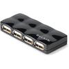Belkin Hi-speed 4-port Usb 2.0 Mobile Hub F5U404PBLK 00722868692318