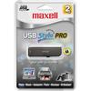 Maxell 2GB Usb Style Pro USB-502 Usb Flash Drive 503400 00025215716201