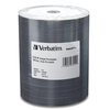 Verbatim Cd-r 700MB 52X White Inkjet Printable, Hub Printable - 100pk Tape Wrap 97019 00023942970194