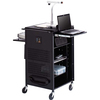Bretford Basics Pal Series TCP23FF Multimedia Presentation Cart TCP23-BK 00096633325702