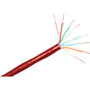 Clearlinks 1000FT Cat. 6 550MHZ Solid Red Bulk Cable C6-207-4P-RDS 00846359000892