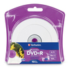 Verbatim Dvd+r 4.7GB 16X White Inkjet Printable With Branded Hub - 10pk Blister 96940 00023942969402