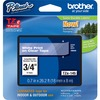 Brother 18mm (0.7 Inch) White On Clear Tape For P-touch 8m (26.2 Ft) TZE145 00012502625629