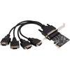 Syba Multimedia 4-port Serial Adapter SD-PEX15011 00810154012787